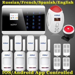 Android Home Alarm NZ - LS111- APP IOS Android remote control LCD Display Touch Screen Panel GSM Home Secure Auto Dial Call PIR Wireless CO Alarm Alert System