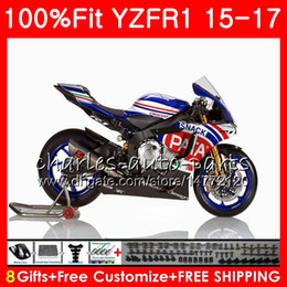 yamaha blue Australia - Injection Body For YAMAHA YZF 1000 YZF-R1 15 17 PATA Blue YZF R1 2015 2016 2017 87NO37 YZF1000 YZF R 1 YZF-1000 YZFR1 15 16 17 Fairing kit