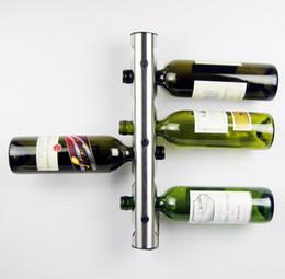 50pcs lot partical stainless steel bar wine rack wine shelf wall mounted holder 8 bottles t349 - Wine Racks For Sale