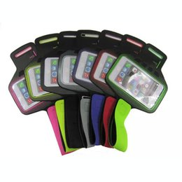 Wholesale Sports Armbands Case Designed For sizes Apple iPhone S Armband Waterproof Cases With Dot Print Mobile Phone Bags For Samsung Note5