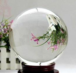 Magic Crystal Balls Canada - Asian Rare Natural Quartz Clear Magic Crystal Healing Ball Sphere With Stand