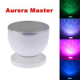 Free DHL mini portatif romantique Aurora Master 7 coloré LED Projecteurs Lumière Ocean Wave Rainbow Projecteur Lampe Haut-parleur