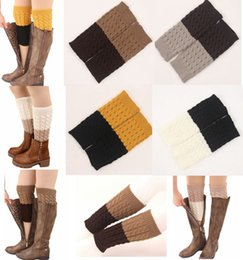 602810c0b14 Discount cable knit knee socks - 2016 Women s TWO TONE REVERSIBLE BOOT CUFF  diamond 6colors -