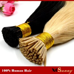 "i tip blonde human hair Canada - XCSUNNY 18"" 20"" Best Keratin Human Hair Prebonded Human Hair I Tip Extensions 1g s 100gram pk Keratin Fusion Hair Extensions"