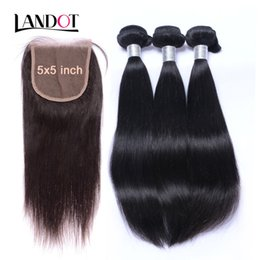 Chinese  5x5 Lace Closures With 3 Bundles Unprocessed Virgin Brazilian Peruvian Malaysian Indian Straight Remy Human Hair Weaves Mink Hair Extensions manufacturers