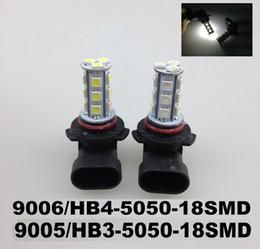 car lights 2019 - LED Car Light Car Bulbs LED Flog Bulb Light 9006 HB4 9005 HB3 5050 18SMD Head Lights Fog LED Bulbs Light 12V cheap car l
