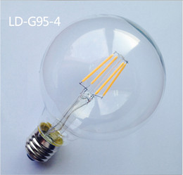 $enCountryForm.capitalKeyWord Canada - Dimmable G95 110V 220V E27 E26 4W 6W 8W 10W 10XCOB Epistar 400LM 2800K-3200K Warm White Led Edison Retro Tungsten Filament Lamp Bulb