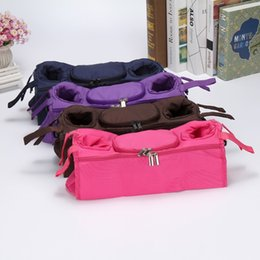 Fabric For baby clothing online shopping - For Baby Stroller Hanging Pouch Nine Colors After Hanging Type Pallet Bag With Double Zipper Beverage Storage Bags Colorful pr B