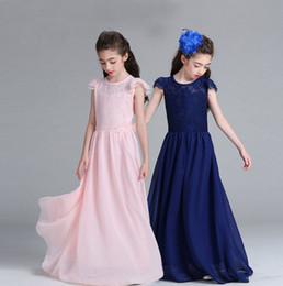 En gros grandes filles robe de bal enfants prom longues robes enfants dentelle jupes 8 couleurs fille boutiques robe robe de mariée vente chaude