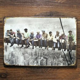 $enCountryForm.capitalKeyWord NZ - Workers built the Eiffel Tower Vintage Metal crafts Wall Art Decor Plaque Tin Sign Home Bar Wall Decoration Poster Painting