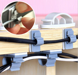 cable buckle Canada - Self-adhesive buckle line cord clip wire clamping device Power Wire Management Marker Straps Cable Tie Organizer JE4