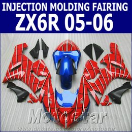 $enCountryForm.capitalKeyWord Canada - Injection molding ABS fairings set for Kawasaki Ninja 636 ZX-6R 05 06 black red blue high quality fairing kit ZX6R 2005 2006 GH94