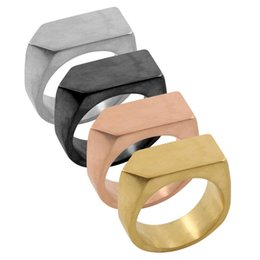 Barato Anéis De Punho Atacado-Atacado - 9MM High Polished Unique Simple Design Anel Gold Color Party Jóias Trendy Geo Band Ring For Women Punho Finger Ring For Party