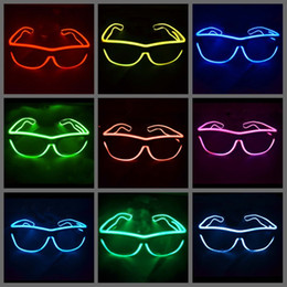 $enCountryForm.capitalKeyWord Canada - Simple el glasses El Wire Fashion Neon LED Light Glow Sun Glasses Rave Costume Party DJ Bright SunGlasses
