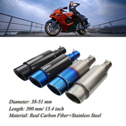 Atv Exhaust Canada - 38-51 mm Carbon fiber Cover Oblique Tail Refit Exhaust Muffler With fit for Motorcycles ATV Universal
