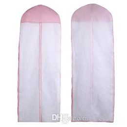 2021 Real Image No Logo Weddings Dress Bag Garment Cover Travel Storage Dust Plus Size 180cm White Pink Wedding Accessories on Sale