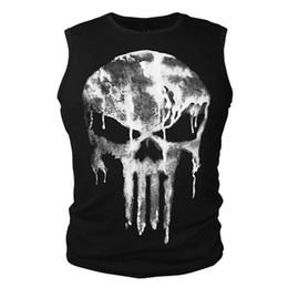 Chinese  2017 Cotton T-shirt Short Sleeve Shirt Summer The Punisher Skull T Shirt Slim Black O-Neck Short Sleeve Tees Fitness Tops Tees manufacturers