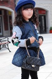 Jupe Longue À Lacets Pas Cher-Thicked Vêtements pour enfants fixés pour 2015 d'hiver de New Girls Coat + Jupe Suit 2Pcs Style Coréen Set Kids Cartoon Fit Age 4-10 110-150 SS600