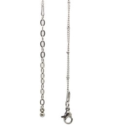 Coin Locket Pendants UK - 24''+2'' (65cm) 316L stainless steel ball station chain for floating locket or jewelry pendant including 2'' extension