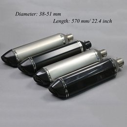 Motorcycle Pipes Australia - Length 570 mm  22.4 inch Universal Motorcycle Exhaust Muffler Pipe With DB Killer Modified Scooter Slip on 38-51mm