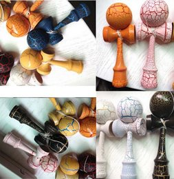 Juggling balls free shipping online shopping - Fashion hot full Crack Paint Kendama Ball Skillful Jling Game Ball Japanese Traditional Toy Balls Educational Toys