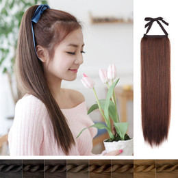 $enCountryForm.capitalKeyWord NZ - 7A Human Hair Ponytail Wig 6# light brown 100% Remy Ponytail Human Hair Extension 100g Pcs Clip In Hair Extensions dhl free shipping