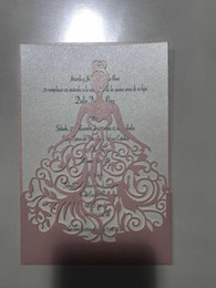 Wholesale laser cut lace white Wedding card Wedding Invitations Elegant Wedding Invitations Cards Birthday Business Party Invitations Cards Samples
