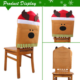 Christmas Chair Cover With Santa Claus Elk Xmas Decoration For Dining Hall 19682362inch Table Party Decor