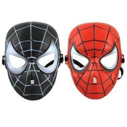 Novità Maschera Hot Spiderman Maschere per Halloween Christmas Party 2 colori (Nero, Rosso) per Maschera per Bambini adulti