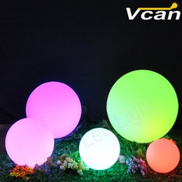 Cordless Remote Control Canada - 12 inch 30cm 4PCS RGB colorful glowing rechargeable 16 colors cordless remote control Led sphere waterproof light