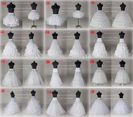 lined petticoat Canada - 10 Style Cheap White A Line Ball Gown Mermaid Wedding Prom Bridal Petticoats Underskirt Crinoline Wedding Accessories Bridal slip Dresses