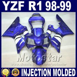 $enCountryForm.capitalKeyWord Canada - Injection Mold for 1998 1999 YAMAHA R1 fairing kits blue white 98 99 yzf r1 fairings yzfr1 body kit cheap price+7 gifts