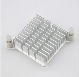Chinese  Wholesale-5 pcs lot LED IC Silver Heat sink For Chip CPU Computer North Bridge Coolers Cooling Aluminum Heatsink Radiator 40x40x13mm manufacturers