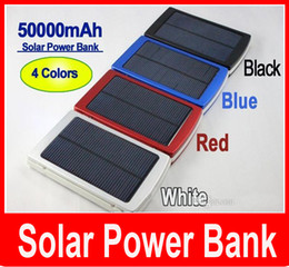 Solar Power Bank For Phone Canada - 50000 mah Solar Charger and Battery 50000mAh Solar Panel Dual Charging Ports portable power bank for All Cell Phone table PC MP3