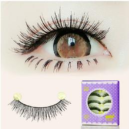 db6e82cb755 Handmade fake eyelashes 252# natural short thick lashes cotton stem 30Pairs  LOT false lashes extension naked makeup eye lashes extension