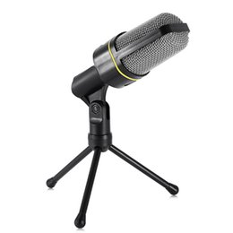Discount microphone professional singing - Professional Yanmai Unidirectional Sound Microphone with Stand Holder for PC Laptop MSN Skype Support Singing and Chatti
