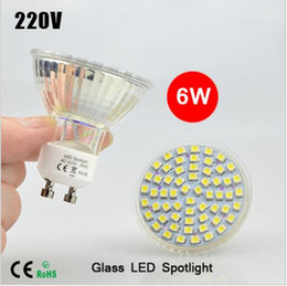 Bulb Warmer Heat Lamps Canada - BEST Selling 10Pcs lots Full Watt 6W GU10 LED lamp AC 220V Heat-resistant Glass Body 3528 SMD 60LEDs 550-600LM LED Spotlight Bulbs light