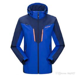 Windbreaker Orange NZ - 2017 Brand Men Women Lovers Hiking Jacket Waterproof Jacket Outdoor Men Windbreaker Warm Ski Camping Free Shipping