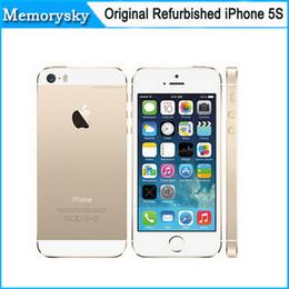$enCountryForm.capitalKeyWord Canada - Original Factory Unlocked apple iphone 5s phone 16GB ROM IOS White Black Gold GPS GPRS A7 IPS LTE Refurbished Cell Phone DHL shipping 002832