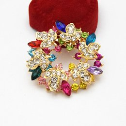 $enCountryForm.capitalKeyWord NZ - Mixed Colors Crystals Elegant Wedding Bridal Bouquet Leaf Flower Wreath Brooch 100% Good Quality Factory Direct Sale Cheap Broaches