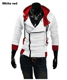 eminem hoodie red NZ - Wholesale-assassin creed 3 costume hoodies sweatshirt men boys halloween 4xl 5xl 6xl xxxxl xxxxxl harajuku black 2015 eminem streetwear