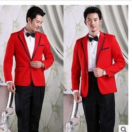 Discount Men Rose Red Suit Jacket | 2017 Men Rose Red Suit Jacket ...