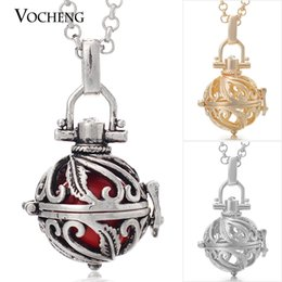 $enCountryForm.capitalKeyWord Canada - Pregnancy Ball in Pendants Small 12mm Wind Chime Pendant 3 Colors Copper with Stainless Steel Chain VA-032