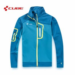 Cube bike CyCling jerseys online shopping - 2019 Newest men s Cube Jacket authentic Thermal Fleece Moto jacket Bicycle jersey Cycling quick drying casual male sports Bike clothing
