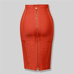 Оптовая торговля-бренд Nerw Сексуальная мода красный черный бандаж юбка-карандаш новое Прибытие 2016 эластичный Bodycon юбки 54 см