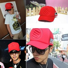 Korean Style Baseball Caps Canada - Wholesale-Men Women Hot Korean Mesh Trucker Baseball Cap Caps Hat Snap Hip-hop Style Cap