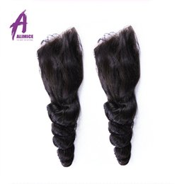 $enCountryForm.capitalKeyWord Canada - 7A Peruvian Loose Wave Closure 4*4 Peruvian Virgin Hair Closure Bleached Knots Free Middle 3 Part Tight Loose Wave Lace Closure