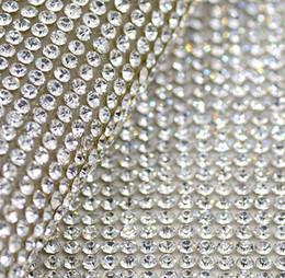 $enCountryForm.capitalKeyWord Canada - Free shippment!2mm clear glass rhinestone Beaded trim Hotfix or self Adhesive strass Applique Banding Diamond mesh roll for diy Decoration