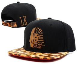 Egyptian Pharaoh Embroidered Snapback Hip-hop LK Caps Leopard Lovers Men  Women Adjustable Many Colors Baseball Cap Couple Snapback Hats c6e8dbb3c42e