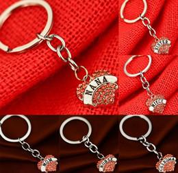 $enCountryForm.capitalKeyWord Canada - NEW Hot Cartoon Game movie keychian heart with rhinestone text keychain wedding favors keychain best gifts cc132